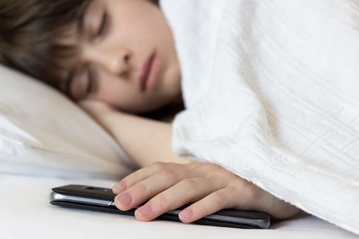 Sleeping with smartphone